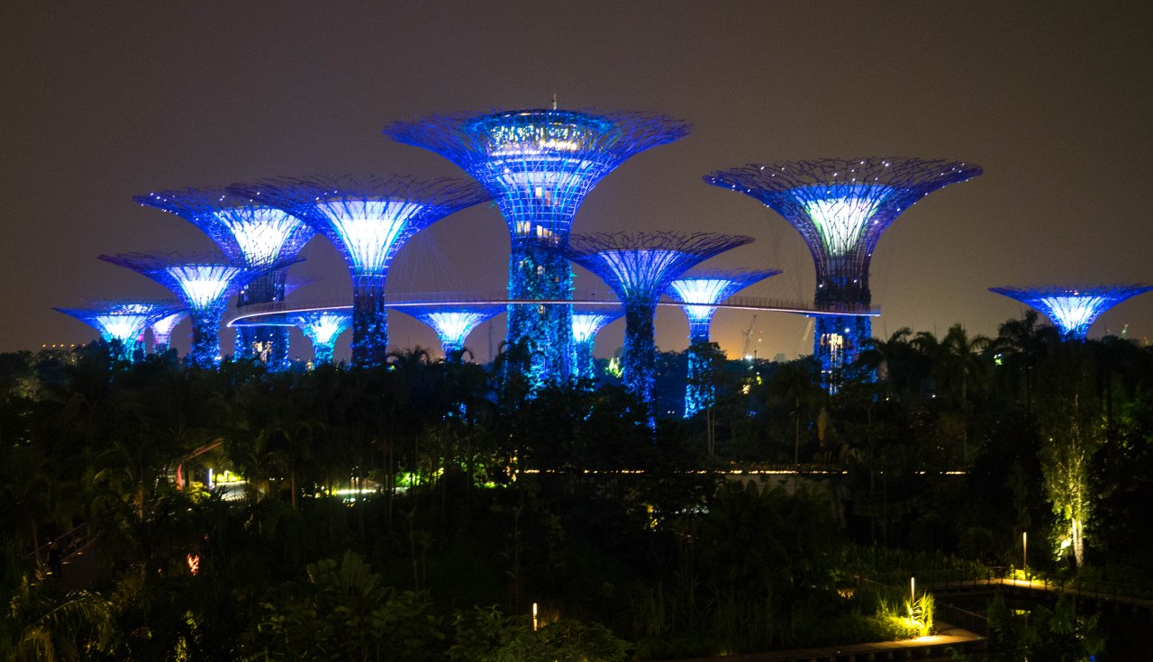 Gardens by the Bay, un spectacle haut en couleur!